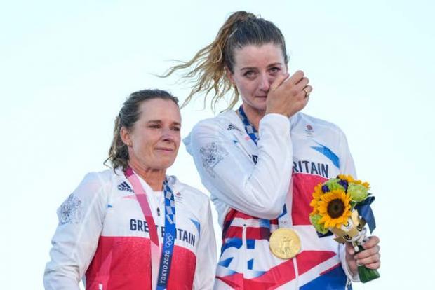 Penarth Times: Mills and Mcintyre on the podium (Gregorio Borgia/AP)