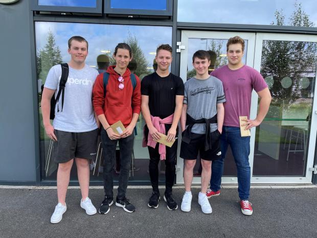 Penarth Times: L-R: Dylan Brookes, Ethan Gardner, Ryan Best, Jacob Brown and Conrad Carter