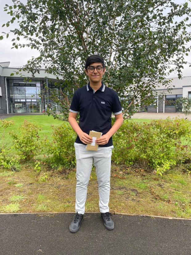 Penarth Times: St Cyres School pupil Muhammad Tahirkheli