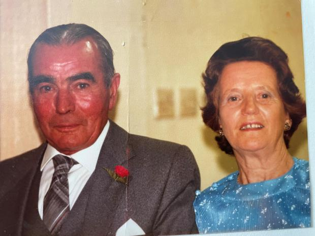 Penarth Times: Olivia Orchard with her late husband Ray