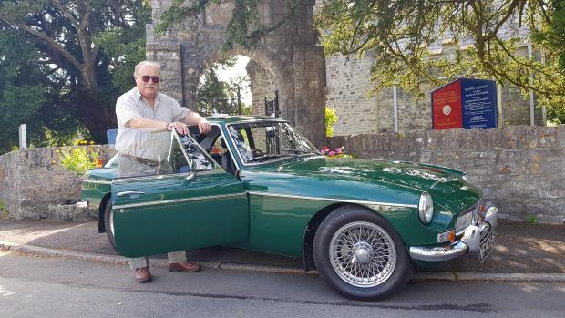 Penarth Times: Ed Griffith with his MG CGT classic car