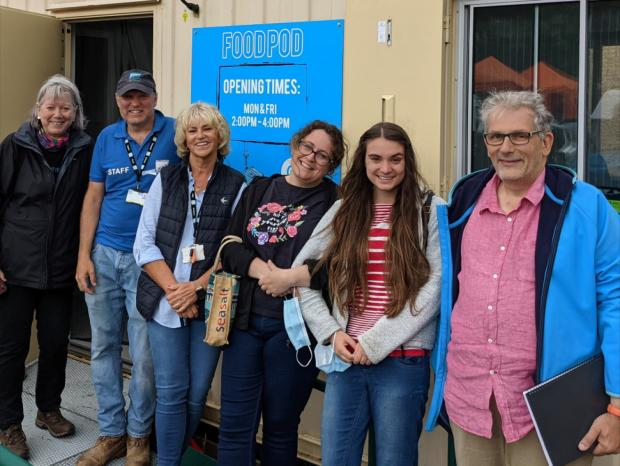 Penarth Times: Volunteers from Helping Hands and the STAR Residents Association have helped to get the Penarth Food Pod project up and running