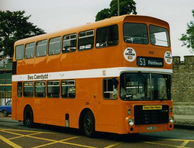 Penarth Times: THROWBACK: Cardiff Bus when it featured the 'Pick an Orange' slogan