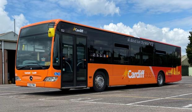Penarth Times: The new branding for Cardiff Bus