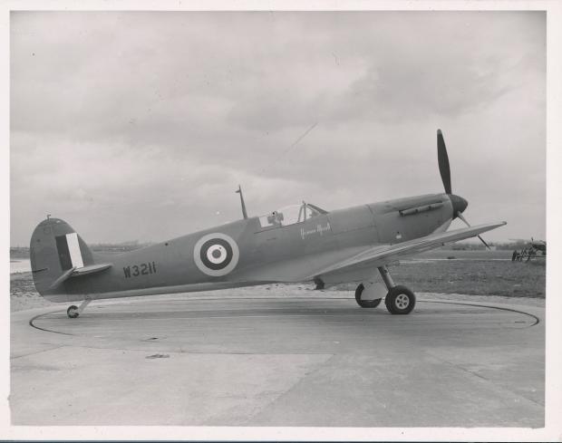Penarth Times: The Spitfire in memory of Flt Lt Norman Merrett