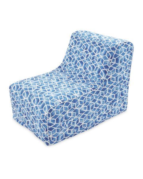 Penarth Times: Inflatable Blue Mosaic Lounger (Aldi)