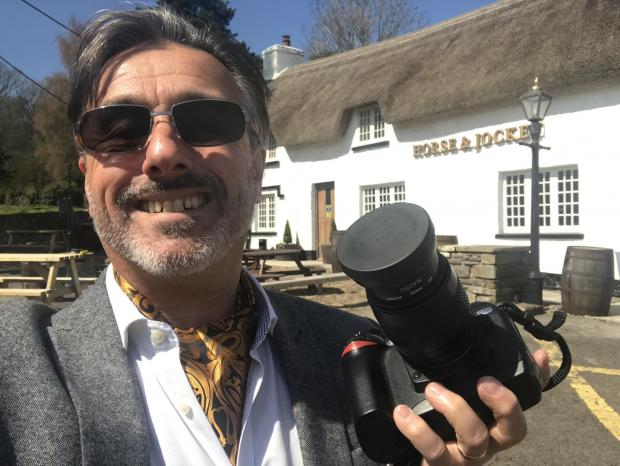 Penarth Times: Graham Loveluck-Edwards out snapping some pubs for his book
