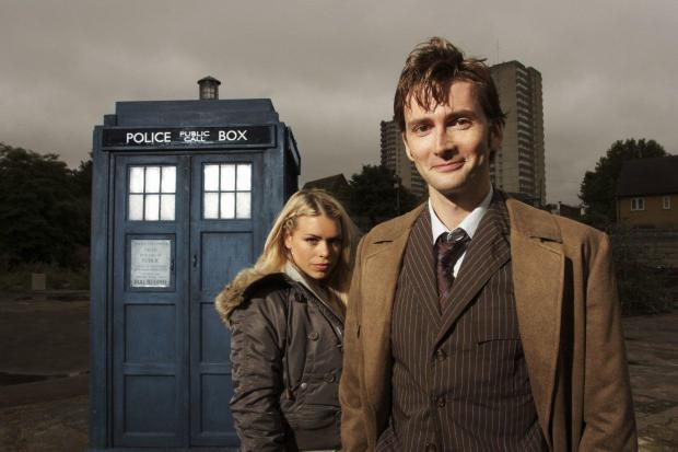 Penarth Times: David Tennant as Dr Who with assistant Rose Tyler, played by Billie Piper. Credit: BBC
