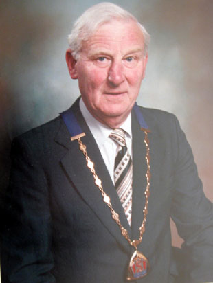 CHAIRMAN: Malcolm Davies during his time as head of Sully Community Council.
