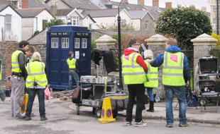 EXCITING: The Tardis drew quite a crowd