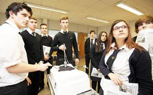 SCIENCE IN ACTION: Students from Stanwell School were given a tutorial in medical business innovation when they visited Cardiff Medicentre. Pictures: Betina Skovbro Photography.