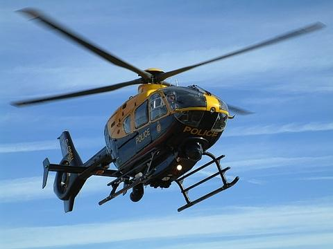 Police helicopter searches for missing woman
