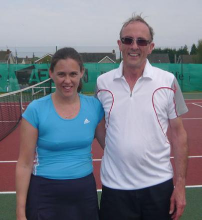 GAME, SET AND MATCH: Penarth Windsor Lawn Tennis Club mixed doubles handicap winners Michelle de Villiers and Mike Dunn.