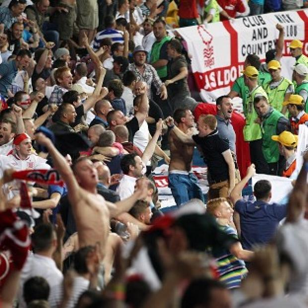 Police have praised the behaviour of England fans at Euro 2012