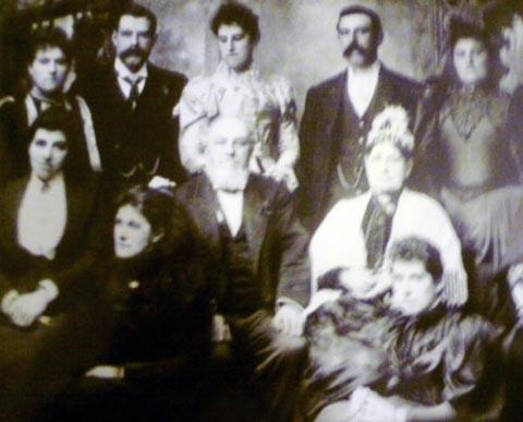 HISTORY DISPLAY: Mr George Stowe with his wife and family at their home in Park Road in 1891, one of the founding families of the church.