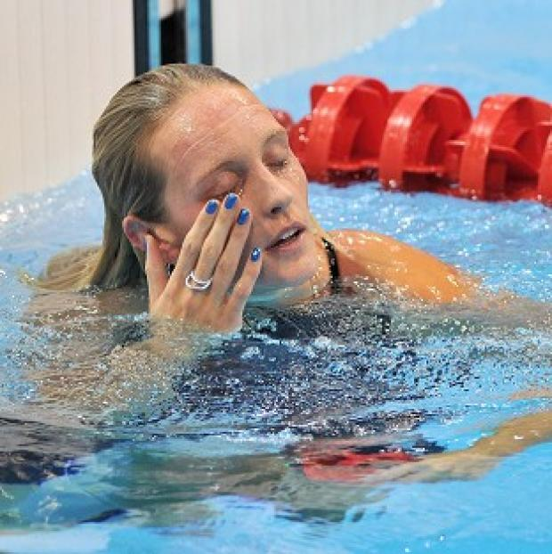 Fran Halsall missed out on a medal as she finished fifth in the 50m freestyle