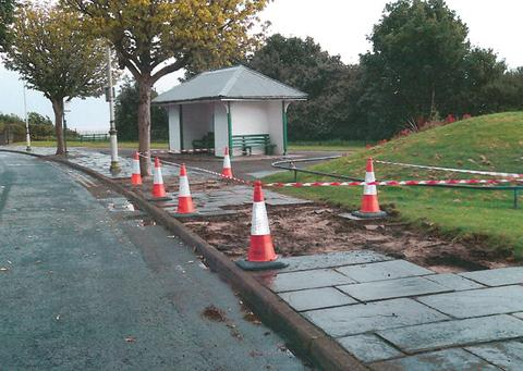 THEFT: Thousands of pounds worth of paving slabs have been stolen from Penarth.