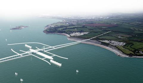 An artist's impression of how the barrage could look.