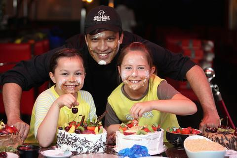 TEAM: (from left) Dinas Powys Brownie Catrin Jones, Chef Darshan Choudari and Chloe Horner.