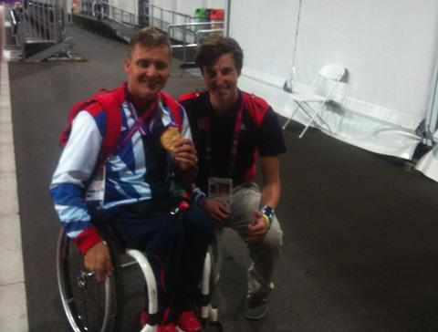 EXPERIENCE OF A LIFETIME: Thom Stephanakis with David Weir