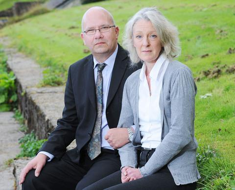 HEARTBROKEN: Ian and Nicola Singleton, who were living in Sully in 2009. Picture: Wales News