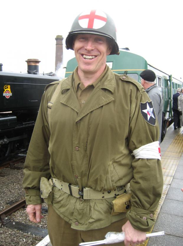 LOCAL HEADTEACHER: Dr Hicks at the recent Wartime Weekend in Barry.