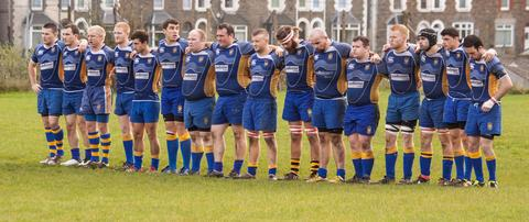 TRIBUTE: A minute of remembrance prior to the game. Pictures: Mark Harris.