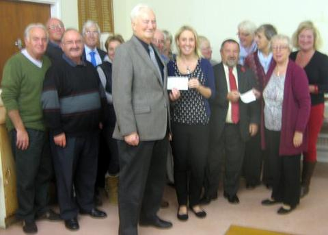Sully Painting Group present donations to Ty Hafan and Alzheimer's Society