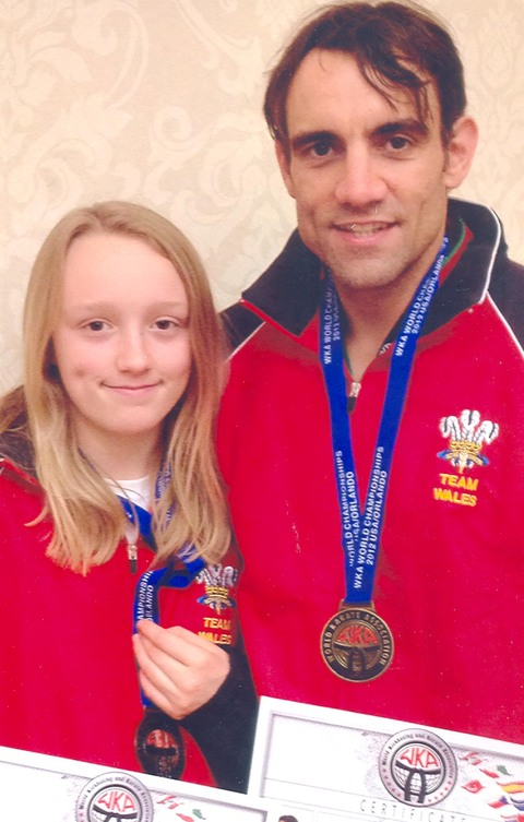KICKBOXERS: Nick and Maddie Clarke have both tasted world championsip success.
