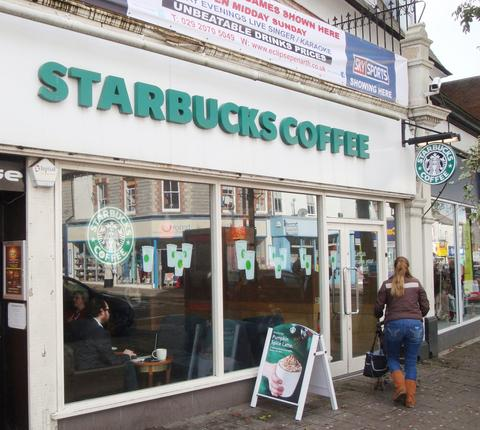 CLOSED: Starbucks has left Penarth. Picture: NewsNet UK.