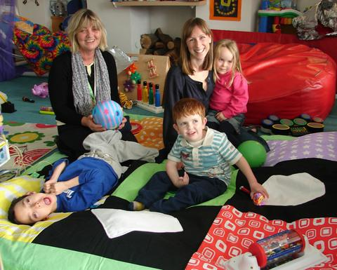 KIND DONATION: Ty Hafan's new PlayDuvet donated by Nicola Osgood.