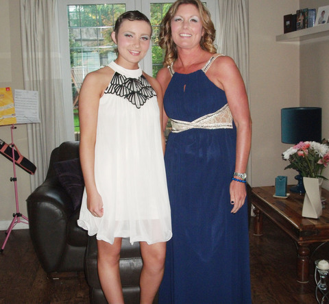 SURVIVIOR: Hayley Stroud and her mum Sarah, before the fundraiser which raised close to £8,000 in October.