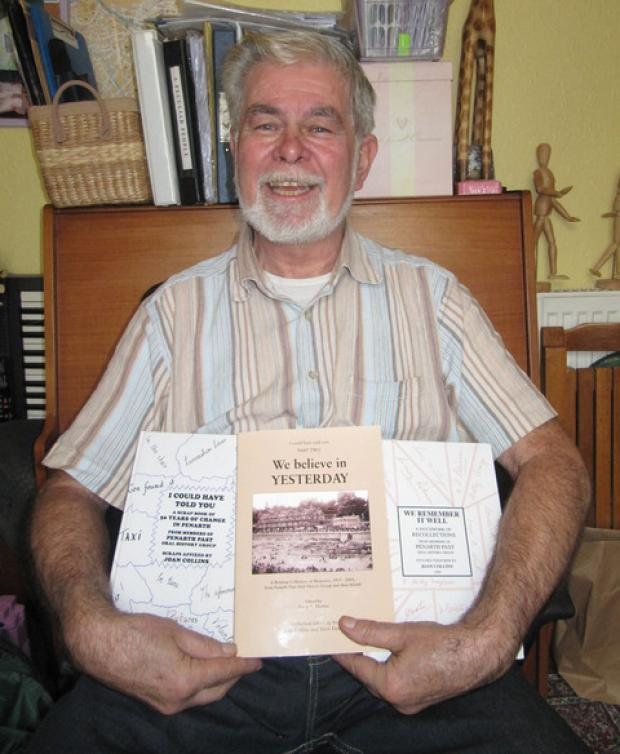 "PUBLISHED: Terry Farrell with Penarth Past's ""We Believe in Yesterday"" book."