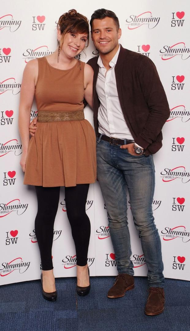 STAR ATTRACTION: Slimming World Consultant Sarah Pryor meets TOWIE star Mark Wright at the Slimming World Awards.