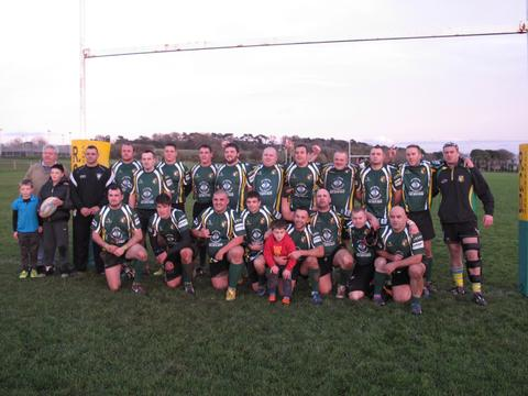 SPONSORED KIT: Sully Sports Rugby Club Firsts are pictured in their new kit sponsored by Lift Services (South Wales) Ltd. The club once again extends its thanks to Tim Healey, managing director of Lift Services (South Wales) Ltd, for his company's support
