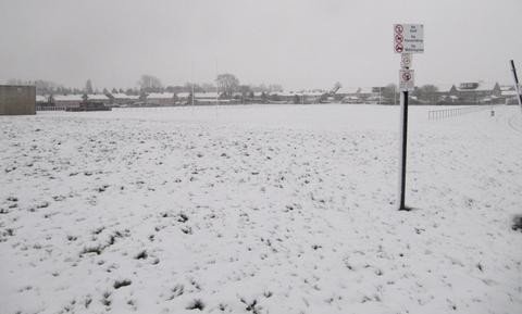 POSTPONED: The Old Penarthians RFC pitch was covered in a blanket of snow, and their scheduled match against St Joseph's postponed.