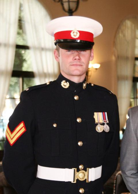 MARINE: Penarth marine Paul Woodland died in October.