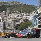 Jenson Button was eighth quickest after the first two practice sessions around the streets of Monte Carlo (AP)