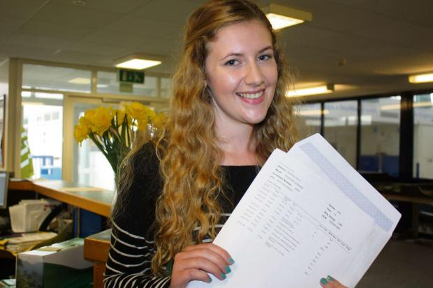 Penarth Times: YSGOL BRO MORGANNWG: Esyllt Jenkins achieved A's in biology and history and a B in chemistry. (869076)