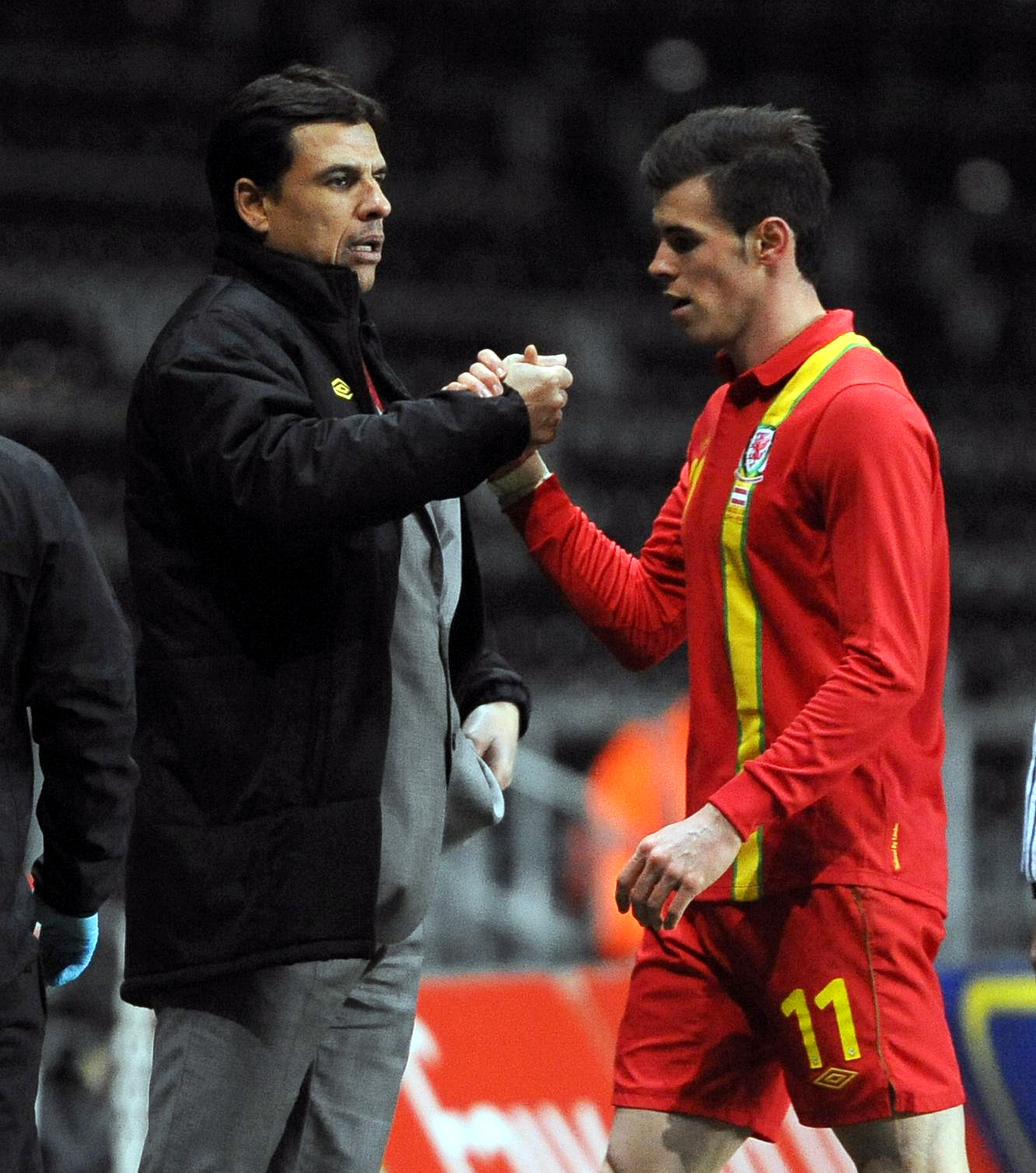 GOOD DRAW: Chris Coleman and Gareth Bale