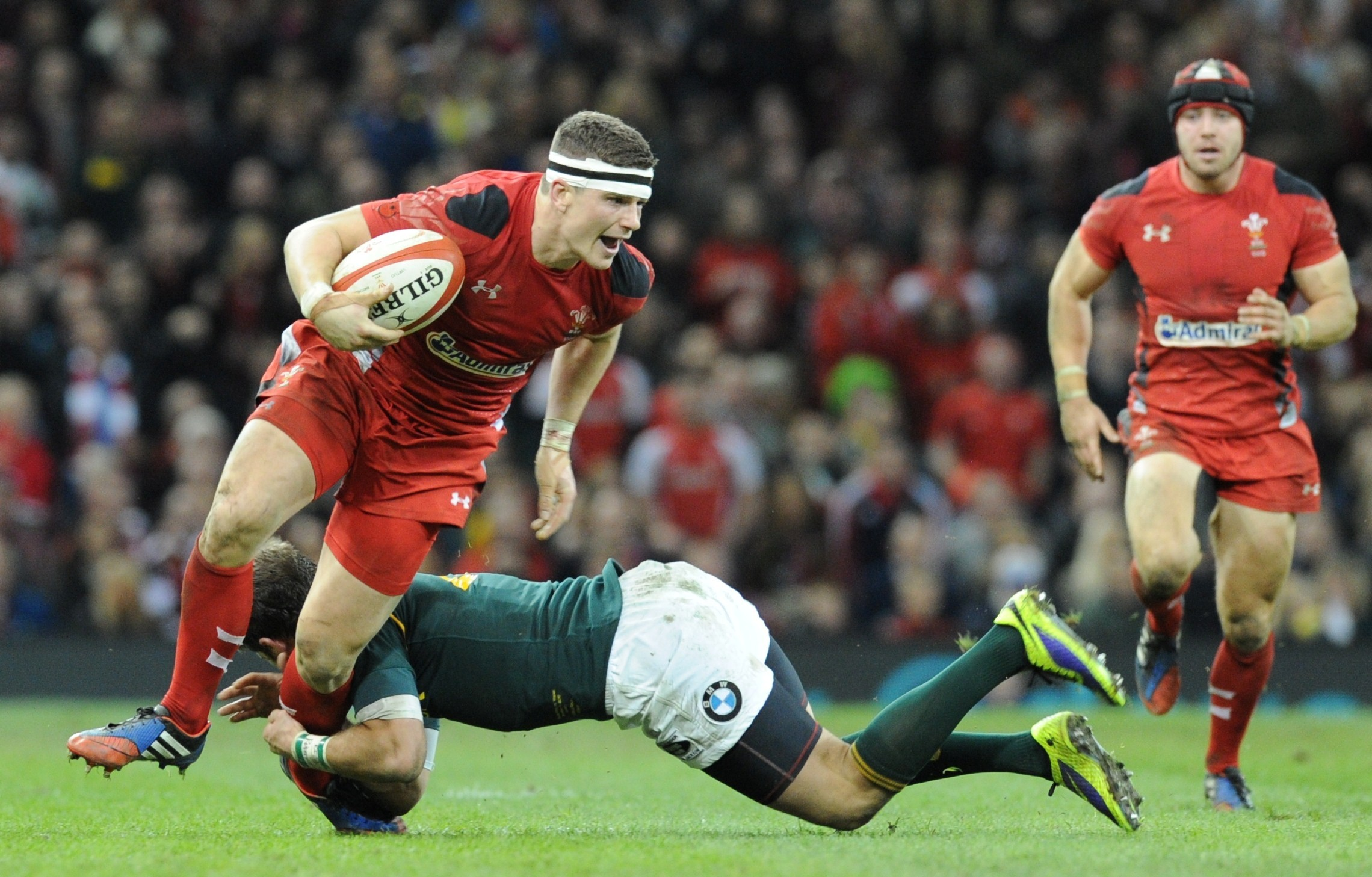 STAYING PUT: Wales and Scarlets ace Scott Williams
