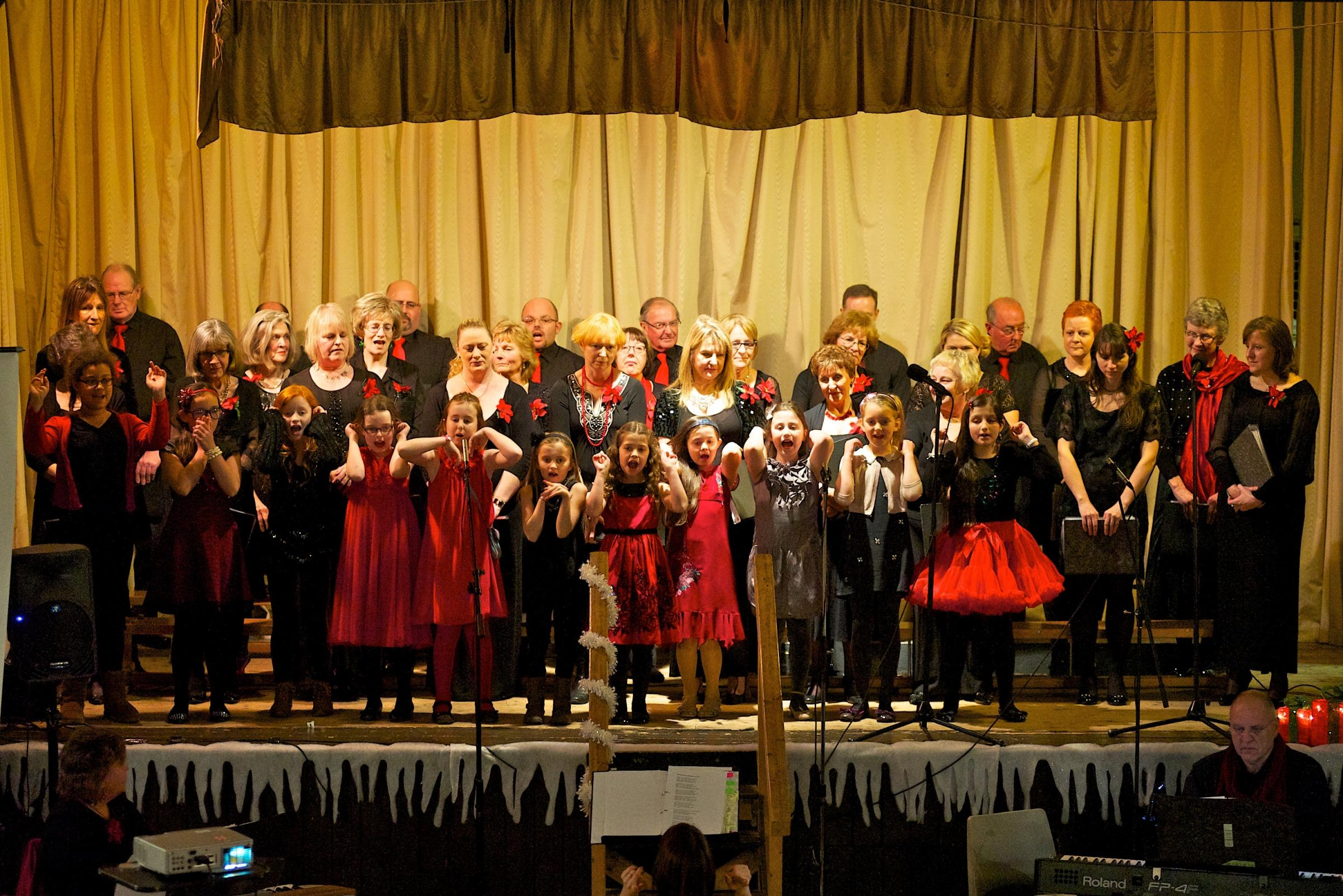 CONCERT: Penarth Choir at All Saints Parish Hall during their concert on December 5 (Pic: Jo Nixon)