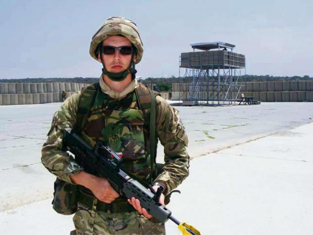 RESERVIST: Rhys Thomas joined the Royal Naval Reserve after attending an open evening