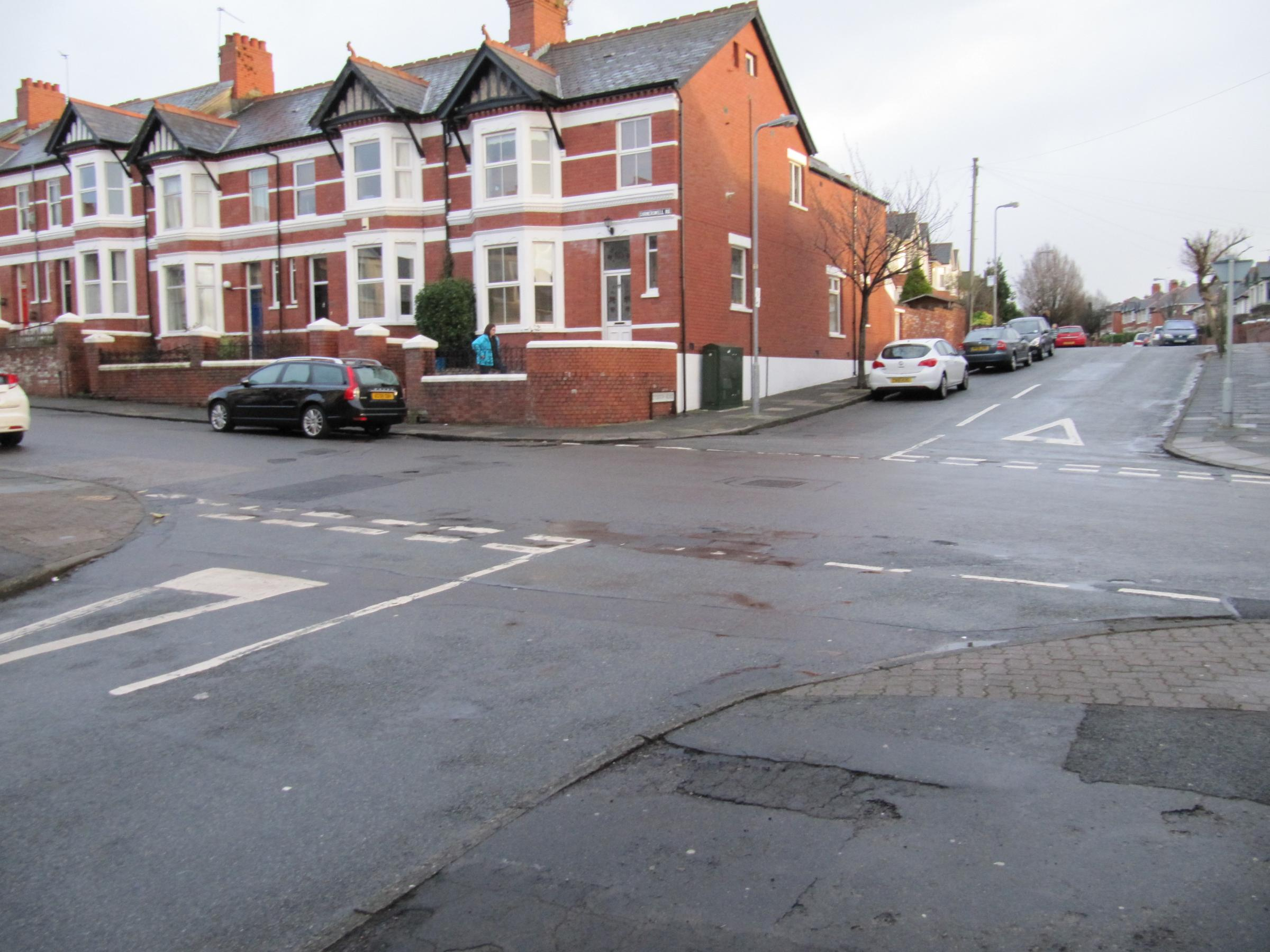 JUNCTION: Double yellow lines are set to be introduced at this junction of Cornerswell Road, Coleridge Avenue and Dyserth Road (3427620)