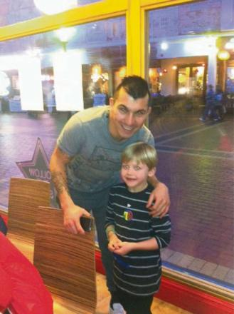 BIRTHDAY SURPRISE: Max Hancock bumped into record Cardiff City signing Gary Medel when he was celebrating his seventh birthday