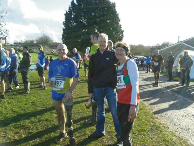 Penarth Times: RUNNERS: Andrew Palmer and Robert Wilson after the race
