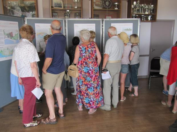 CONSULTATION: Sully residents viewing a Taylor Wimpey  public exhibition last year (4539072)