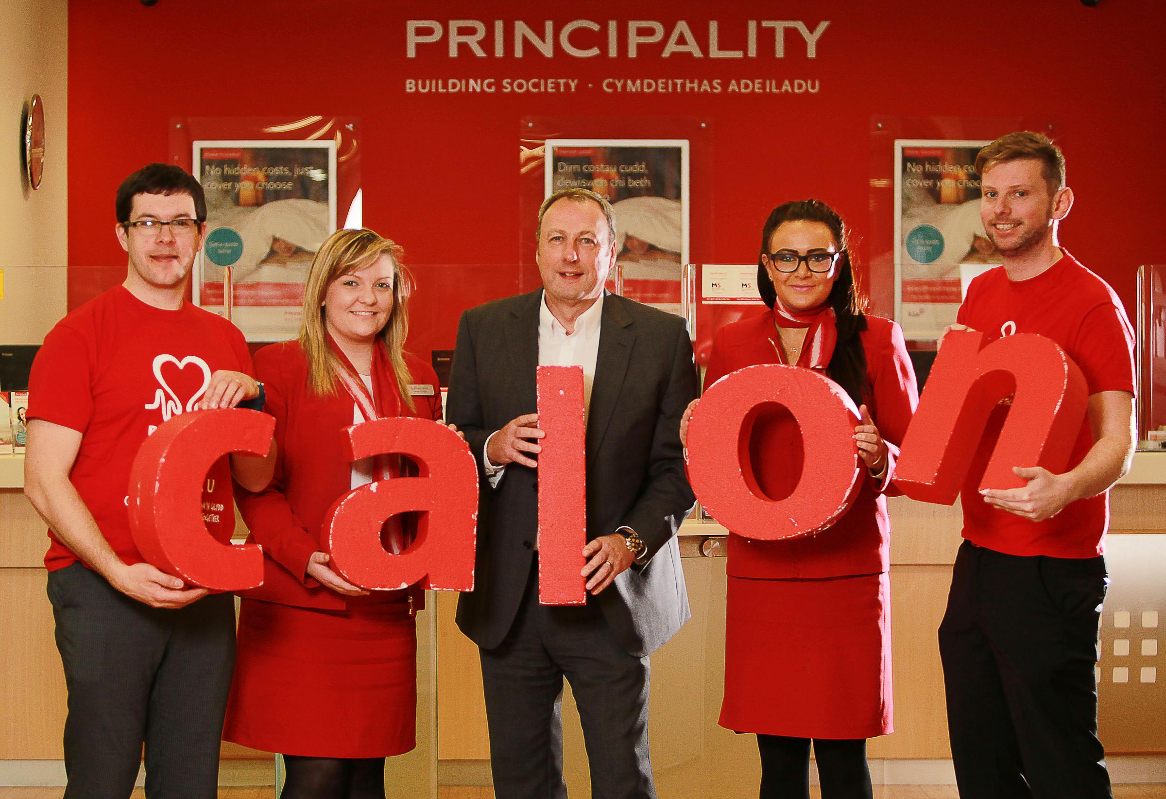 TEAM EFFORT: Sion Edwards, Siobhan Ivins, Graeme Yorston - Principality Group Chief Executive, Danielle Smout and Luke Mallett  © Huw Evans Picture Agency