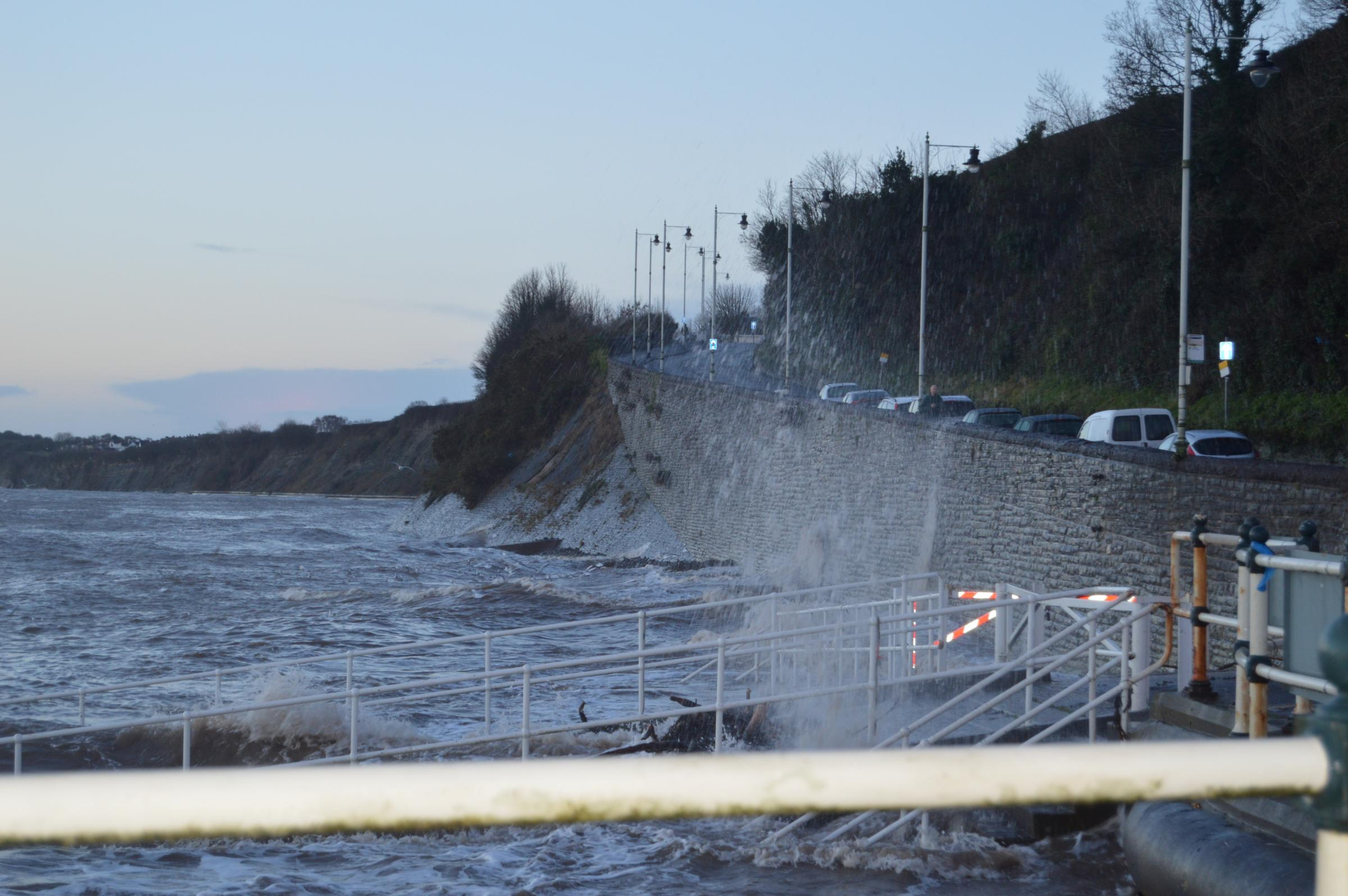 COAST: Penarth MP Stephen Doughty has warned about the impact of storms on Penarth's coastline (photograph by Kelly Fitzgerald)