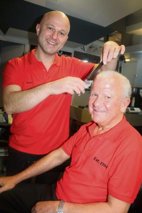CUTS BOTH WAYS: Harry and Andreas Asprou are inviting you to check out their expert service (3746815)